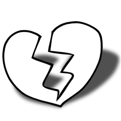 imagenes de amor roto para dibujar im 225 genes de corazones rotos en blanco y negro para