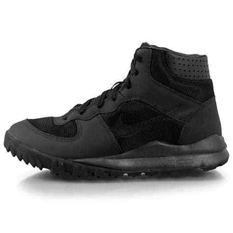 trail running hiking shoes nike acg takos mid 317543 020 black leather mesh trail