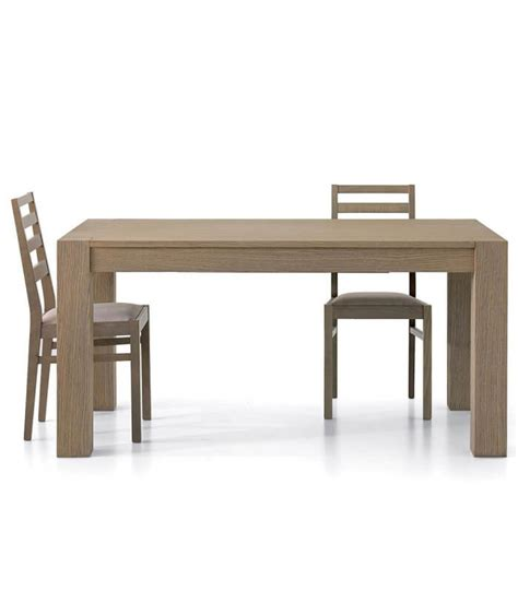 tavoli rovere tavolo rettangolare allungabile in legno rovere seppia