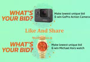 bid and win flipkart bid and win contest best price india