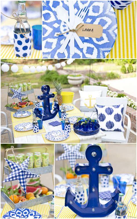 nautical themed backyard nautical backyard summer dinner party pizzazzerie