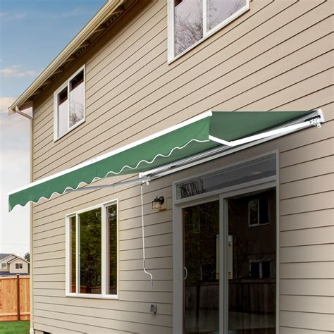 outsunny awning outsunny 13 x8 manual retractable waterproof sun shade