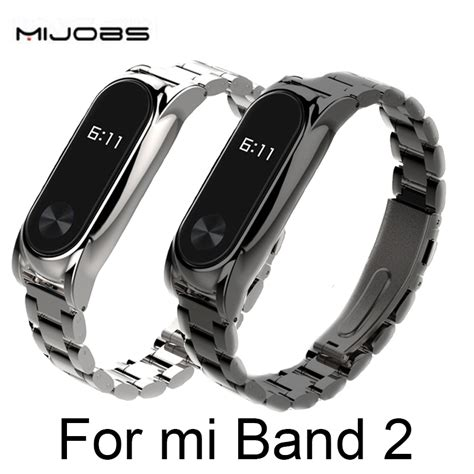New Xiaomi Mi Band 2 Stainless Steel Protective Aliexpress Buy Metal For Xiaomi Mi Band 2
