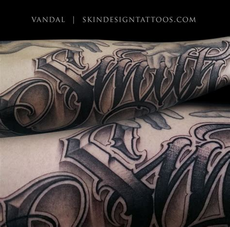 tattoo text las vegas lettering script tattoos by vandal skin