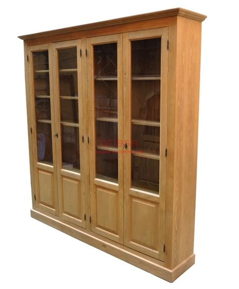 libreria chiusa libreria chiusa vetrina in legno massello con mensole