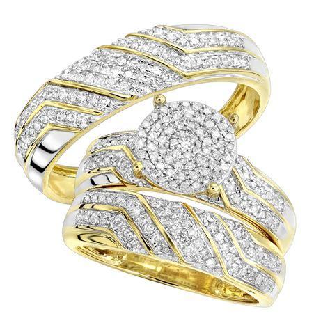 cheap round diamond engagement ring wedding band bridal