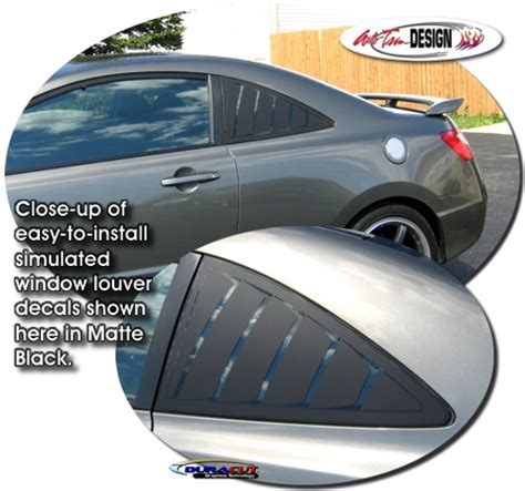 Matte Spray Paint For Cars - simulated window louver decal kit 1 for honda civic coupe