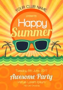 Summer Party summer party poster design vector free download