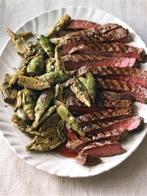 6 oz sirloin steak olive garden sliced steak with garlic sauteed artichokes williams sonoma taste