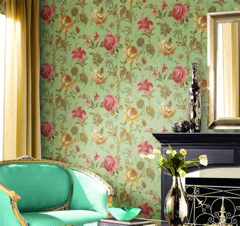 bedroom flower wallpaper pastoral style bedroom with pink flower wallpaper