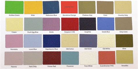 sloan color chart sloan s color charts paint ideas