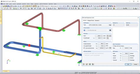 Plumbing Expansion Joint by Axial Expansion Joint Dlubal Software