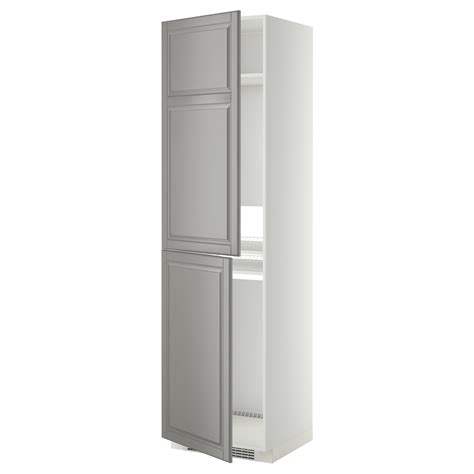 Cabinet Freezer by Metod High Cabinet For Fridge Freezer White Bodbyn Grey