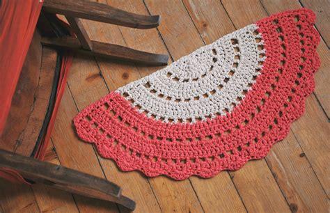 half rug half moon rug crochet boho half rug half circle floor rug