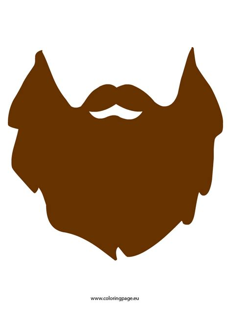 Beard Template Printable printable santa beard search results calendar 2015