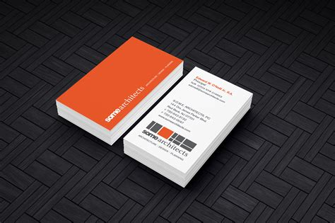 Interactive Business Card Template by Cool Architecture Business Cards Gallery Card Design And