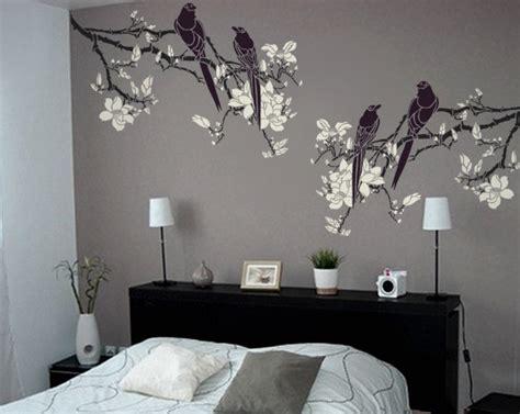 stencil for walls magnolia tree branch with birds