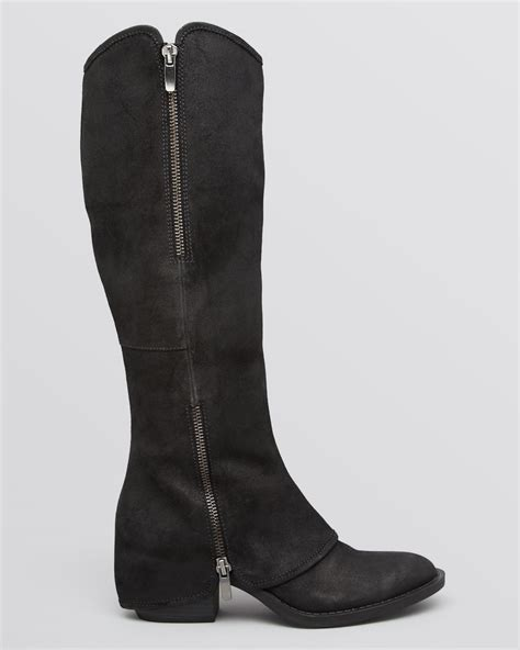enzo boots enzo angiolini boots daryk western in black lyst