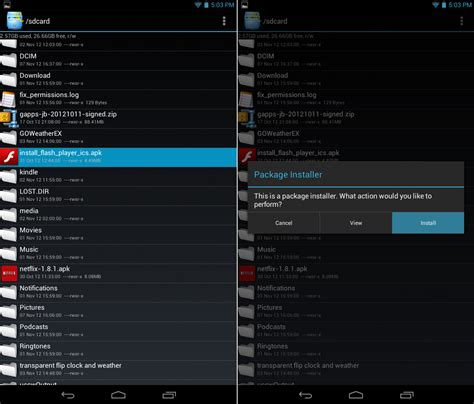 package installer apk how to install adobe flash player on android jelly bean
