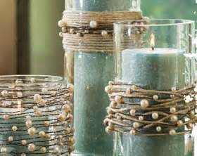 diy vintage rustic wedding decorations pearl on wire garland with jute twine rustic