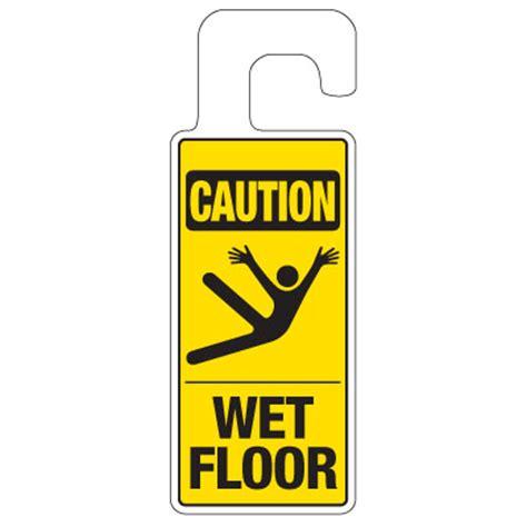 Door Knob Signs by Door Knob Hangers Caution Floor Seton