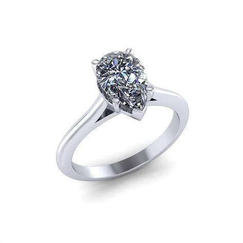 Solitaire Engagement pear solitaire engagement ring jewelry designs