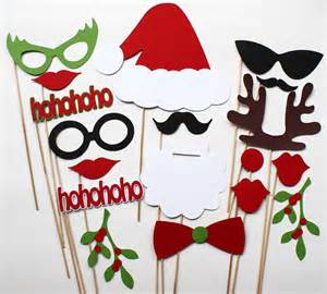 christmas party 18 piece photo booth props by bebopprops