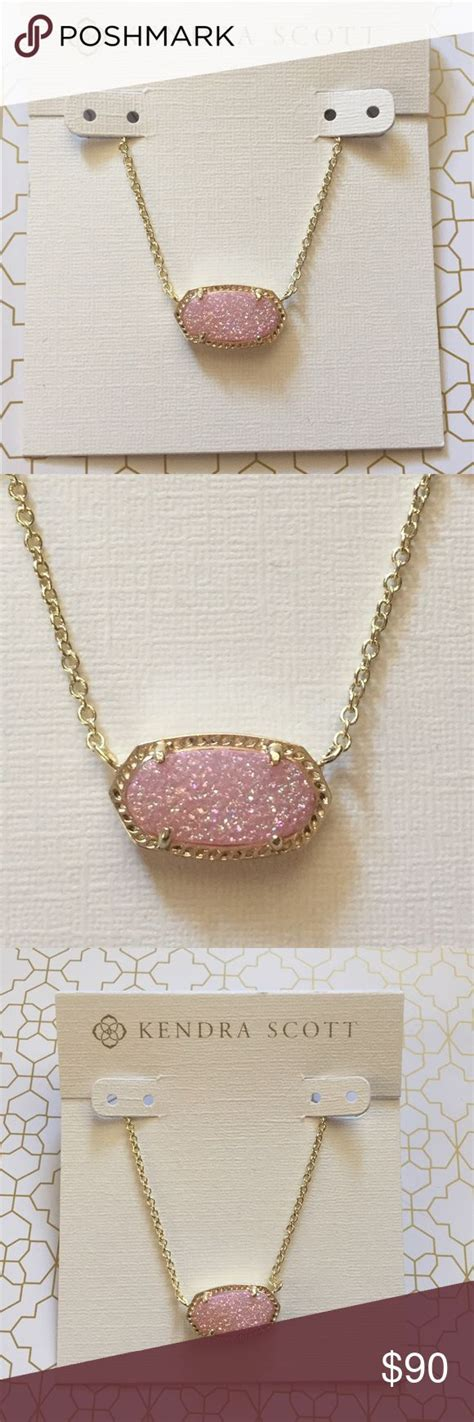 kendra light pink drusy best 25 kendra drusy necklace ideas on