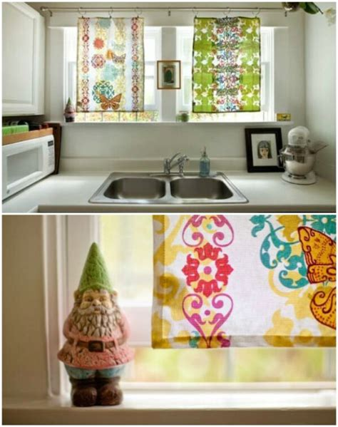 kitchen curtain ideas diy 20 and easy diy curtain ideas to dress up your windows diy crafts