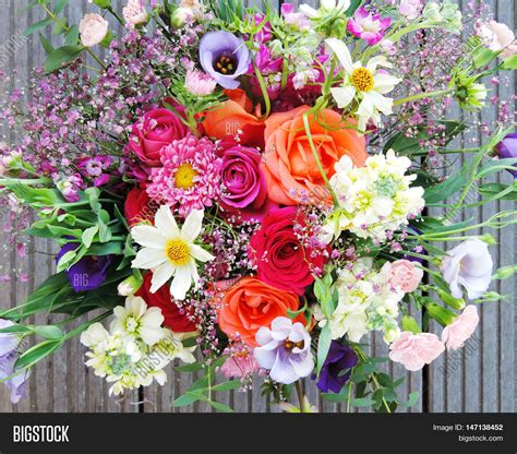 colorful spring flowers bouquet multicolored spring flowers close up bunch of colorful