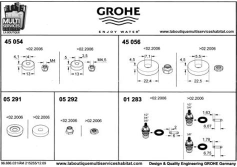 grohe 0128300m joint torique 6 07x1 6 3 01 283 pi 232 ces grohe