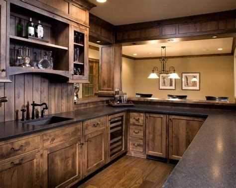 Basement Bar Cabinet Ideas Acacia Floors With Alder Cabinets Design 187 Fabulous Basement Bar Kitchen Ideas With Wooden