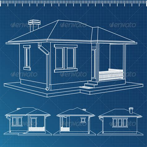 House Blueprint Graphicriver House Blueprints For 3d Modeling