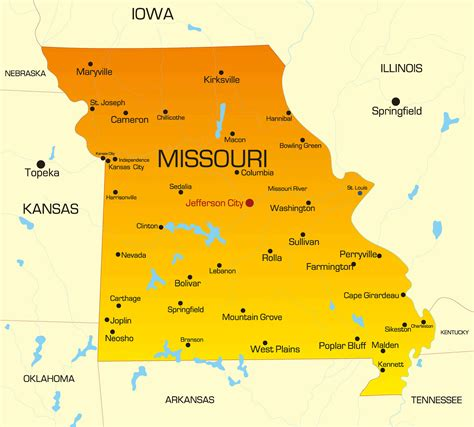 missouri state colors missouri map guide of the world