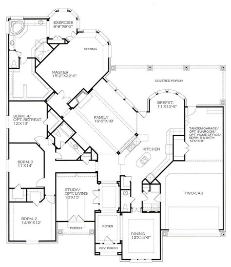 one story house floor plans of obsessed with this one story floor plan for the home house plans house plans one