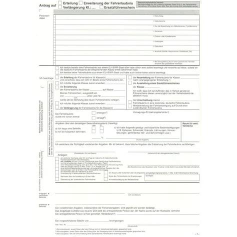 Antrag Führerschein Vorlage Bundeseinheitliche F 252 Hrerschein Antr 228 Ge