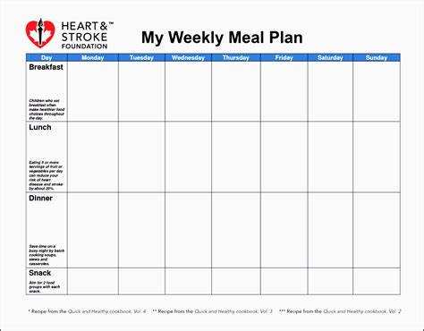 diabetic meal planner template 9 free weekly meal planner layout in excel format