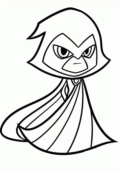 raven superhero coloring page 15 free printable teen titans coloring pages