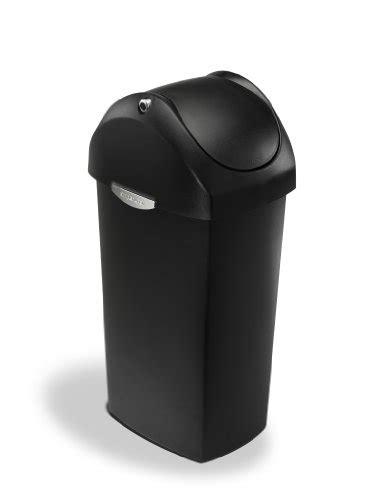 trash can swing lid simplehuman swing lid trash can black plastic 60 l 16