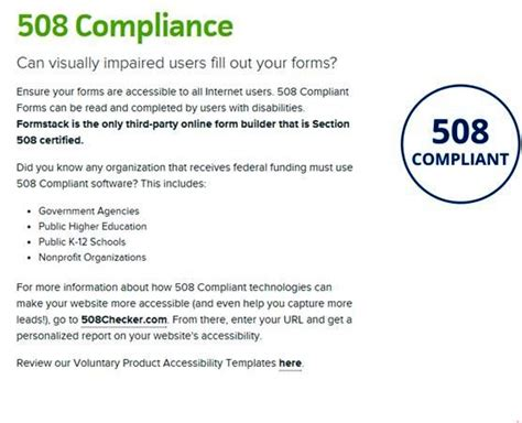 section 508 compliance website the top online form builders for your website