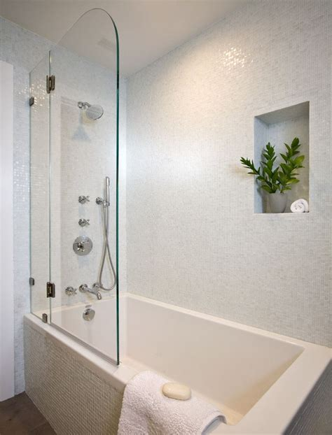 bathtub with walls tub shower combo soaking tub with shower half door white