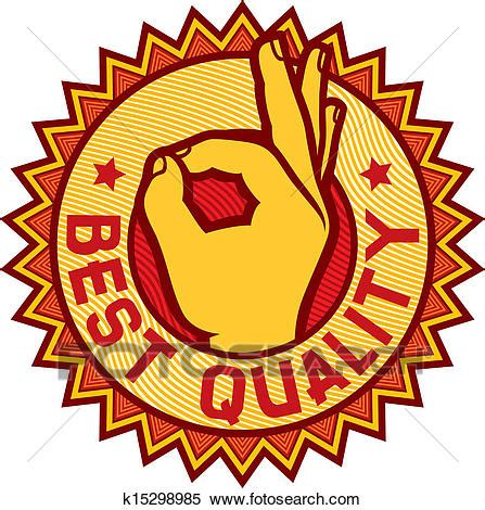 quality clipart clipart of best quality symbol k15298985 search clip
