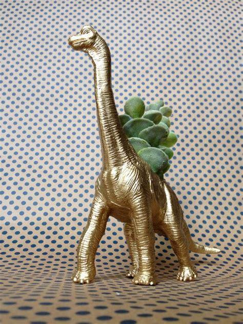 Dinosaur Succulent Planter by Gold Dinosaur Planter Brachiosaurus Planter By