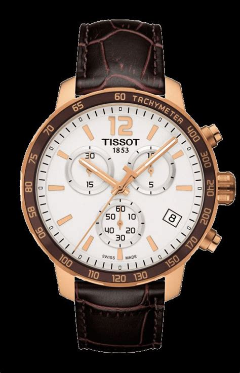 Tissot 1853 Rosegold Pink Leather tissot quickster chronograph the tissot quickster classic is a modern sports for the