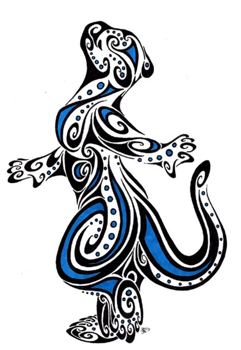 tribal otter tattoo otter tribal by apox0n on deviantart
