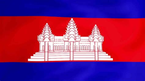 flag  cambodia royalty  video  stock footage