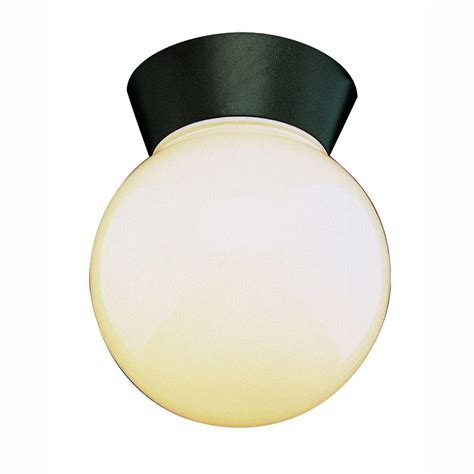 Black Bpan035 Metropolitan 1 bel air lighting metropolitan 1 light black outdoor flushmount with opal glass 4850 bk the
