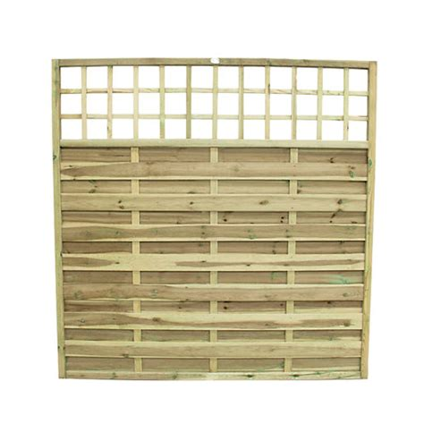 Fence Panels With Integrated Trellis Wickes Hertford Fence Panel 1 8m X 1 8m Integrated Trellis