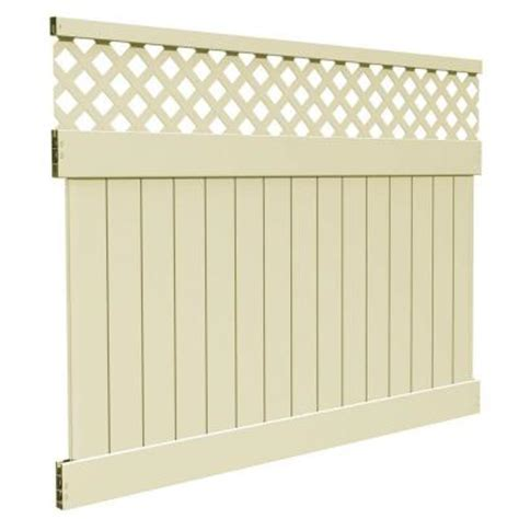 veranda yellowstone 6 ft h x 8 ft w sand vinyl lattice