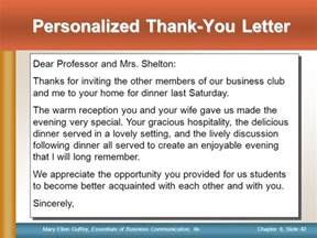 Thank You Letter Hospitality Appreciation Sles Note This Slide Provides Information For Only The Instructor Ppt